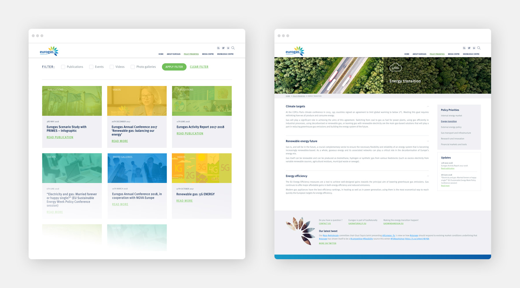 Case Study: Eurogas website 01